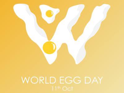 Happy World Egg day! inspiration creative illustration colored branding