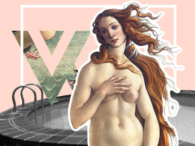 What'zhat Classics - Birth of Venus Botticelli mask mashups mash up mashup identity inspiration art direction artist artwork art creative branding illustration colored design