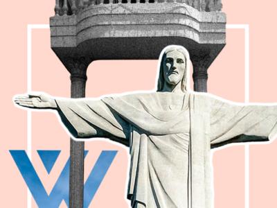 What'zhat classics - the Christ the redeemer corcovado brasil redeemer pinky mashup christ inspiration illustrator identity creative branding illustration design