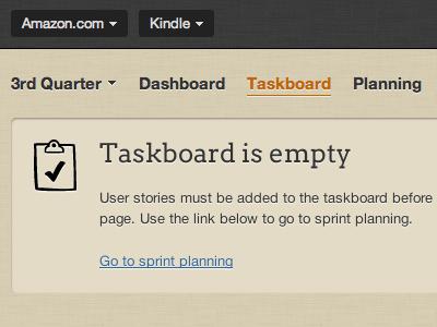 Taskboard blankslate using Steedicons scrummage steedicons arvo
