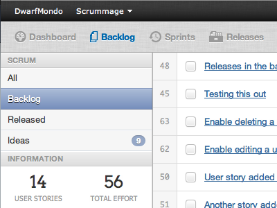 Project Backlog: Preview 1 - Improved Nav webapp scrummage