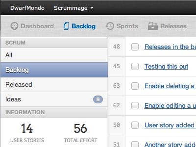 Project Backlog: Preview 1 - Improved Nav webapp scrummage