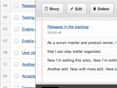 Project Backlog: Preview 3 - User Story webapp scrummage