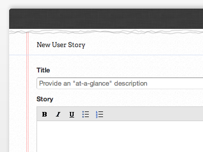 Project Backlog: Preview 4 - Adding A New Story webapp scrummage
