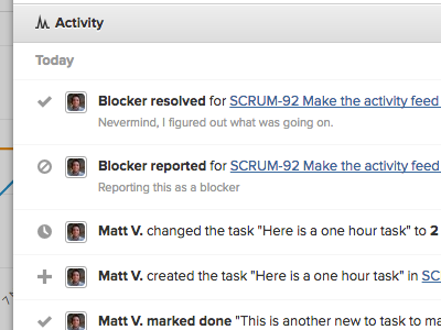 User Story Activity scrummage webapp activity proxima-nova symbolset