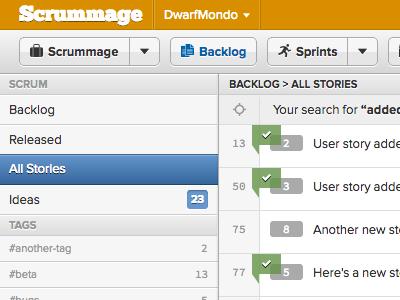 Search Results scrummage webapp proxima-nova symbolset