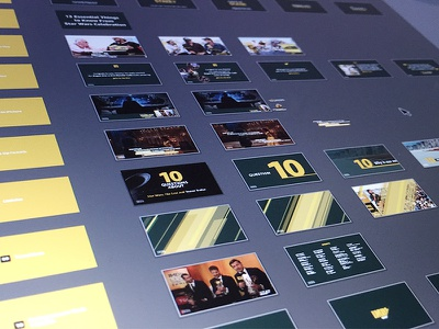 Storyboarding a motion graphics package. creative direction design motion graphics storyboard