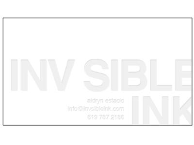business card letterpress mock up