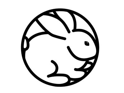 year of the rabbit illustration rabbit crest logo