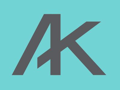 A plus K monogram logo type ligature wedding