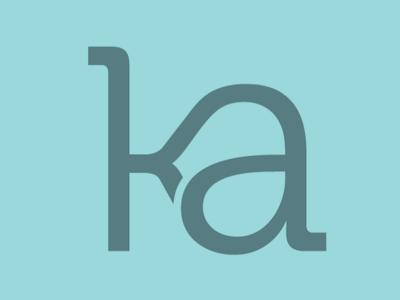 K plus A logo ligature monogram type wedding