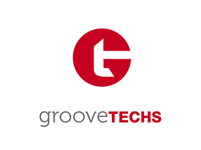 Groove Techs logo typography dj gestalt