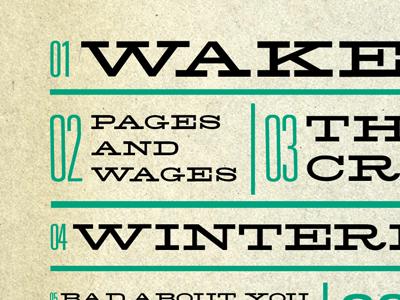 Album Cover Art album cover typography music layout