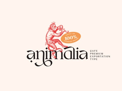 Animalia custom type modern vintage animalia animals primal cafe coffee