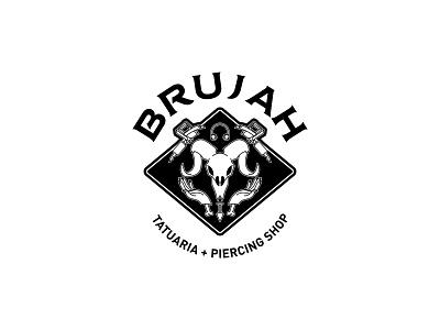 Brujah tattoo goat piercing brand logo hands skull machine