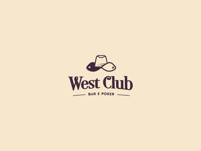 West Club Bar & Poker negative playing cards cards cups hat logo poker club