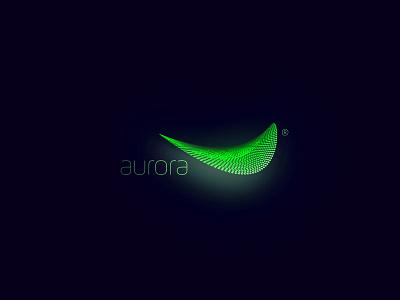 aurora sustainable lamp green flow shape light