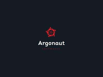 Argonaut Software w/ Type red logo-design logo fear shine cross star spin gradient eyes medusa argonaut