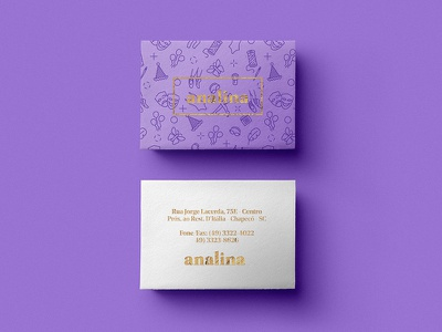 Analina Business Cards pattern logo design logo hot foil hotfoil bcard bcards business cards