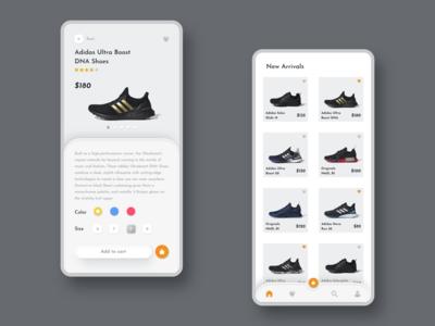 Adidas App design