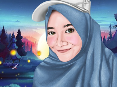 Vector Art Character Hijab