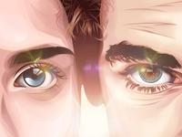 Eyes Cartoon Potrait