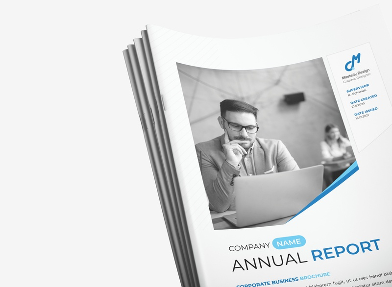 Annual Report blue catalog design indesign illustrator professional graphicriver brochure design annual report brochure
