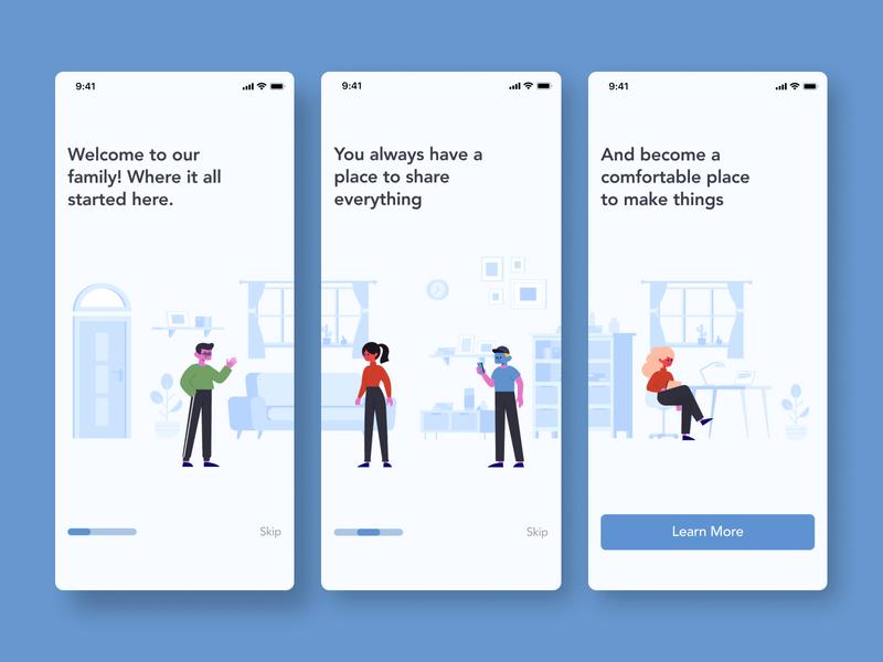 #Exploration - Design using Stubborn Illustration 2/2 app ux ui illustration mobile design clean adobe xd minimalist app design userinterface figma