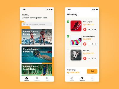 Sports Store App Concept marketplace store sports app ui mobile design figma clean minimalist app design userinterface