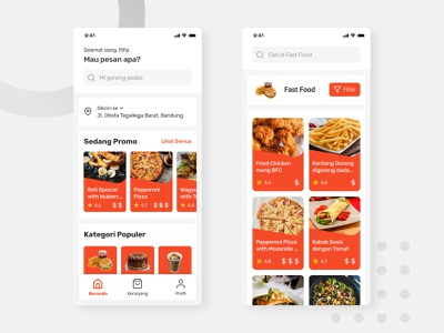 Food Order App Concept - Light Theme light theme food delivery app food app app ui mobile design figma app design userinterface