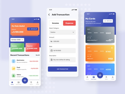 Money Management App Concept wallet ios android money app cards financial money expense income app mobile design ui figma app design userinterface