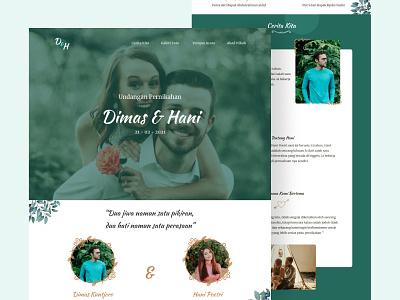 Wedding Website web wedding website wedding invitation wedding landing page clean website web design ui minimalist figma userinterface