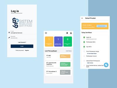 Center for Ceramic Mobile App product stepper dashboad login certificate ceramic userinterface adobexd app design