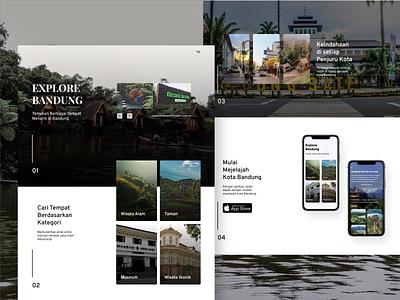 Explore Bandung Website webapp website clean app minimalist userinterface web design nature bandung explore adobexd