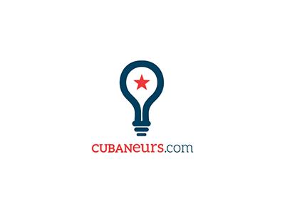 Cubaneurs Logo logo idea cuba entrepreneurs light bulb