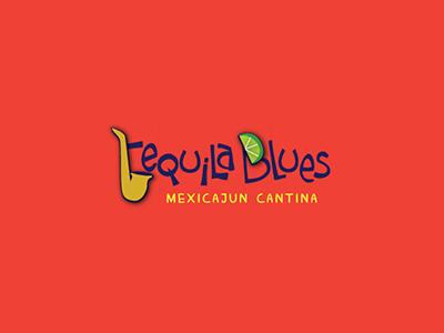 Tequila Blues Logo tequila mexican lime saxophone cajun restaurant logo
