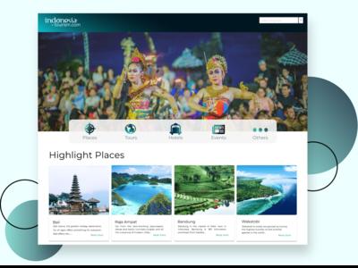 Tourism Website - Landing Page