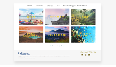 Landing Page Tourism Website - Category