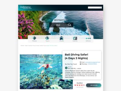 Tourism Website - Tour Package Detail