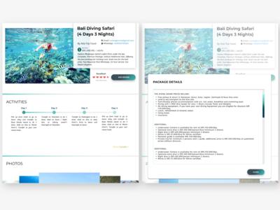 Tourism Website - Activities, More Detail