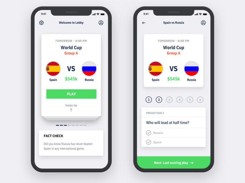 Sports Prediction Application by Parth Chandarana on Dribbble