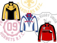 Color blocking for rugby shirts