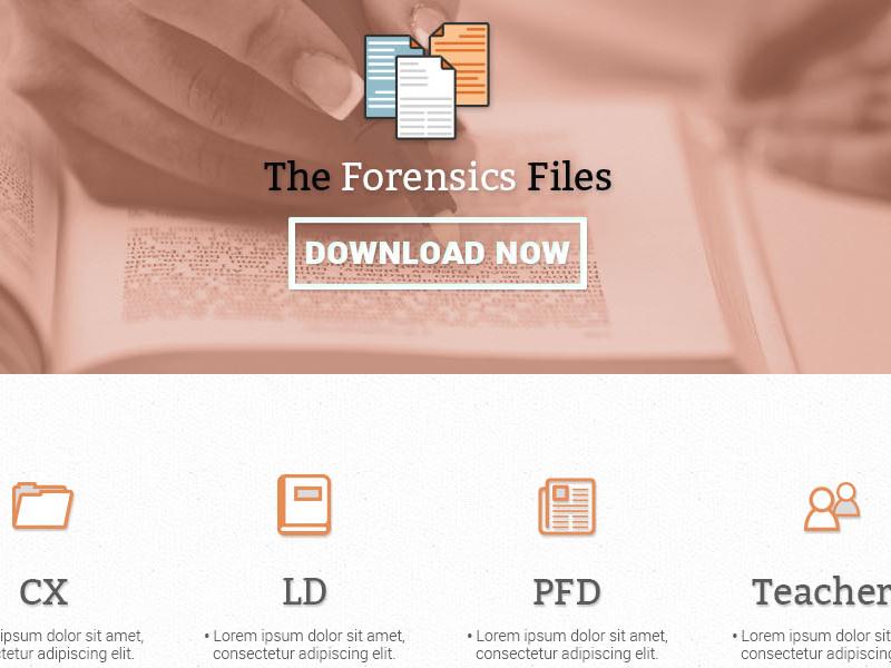 Forensic files landing page