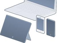 Two iPhones, Macbook Air vs. Microsoft Surface