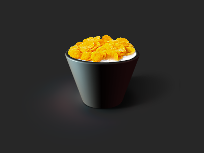 Flake icon food cornflakes milk