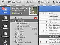 Header, Menu and a Folder List