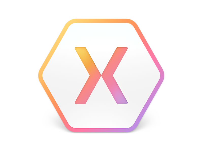 Xamarin Studio 6 application rainbow gradient logo hexagon xamarin icon