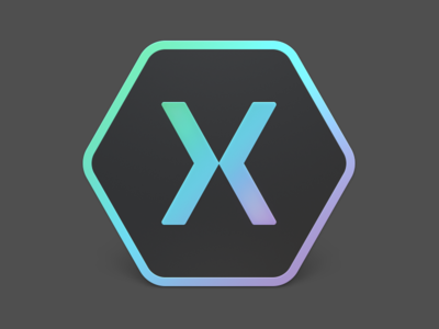 Xamarin Studio 6 – Dark Side dark icon xamarin hexagon logo gradient rainbow application