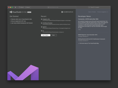 Václav Vančura / Projects / Visual Studio for Mac — User Interface