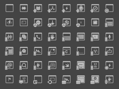 New Project Dialog device outline dark icon